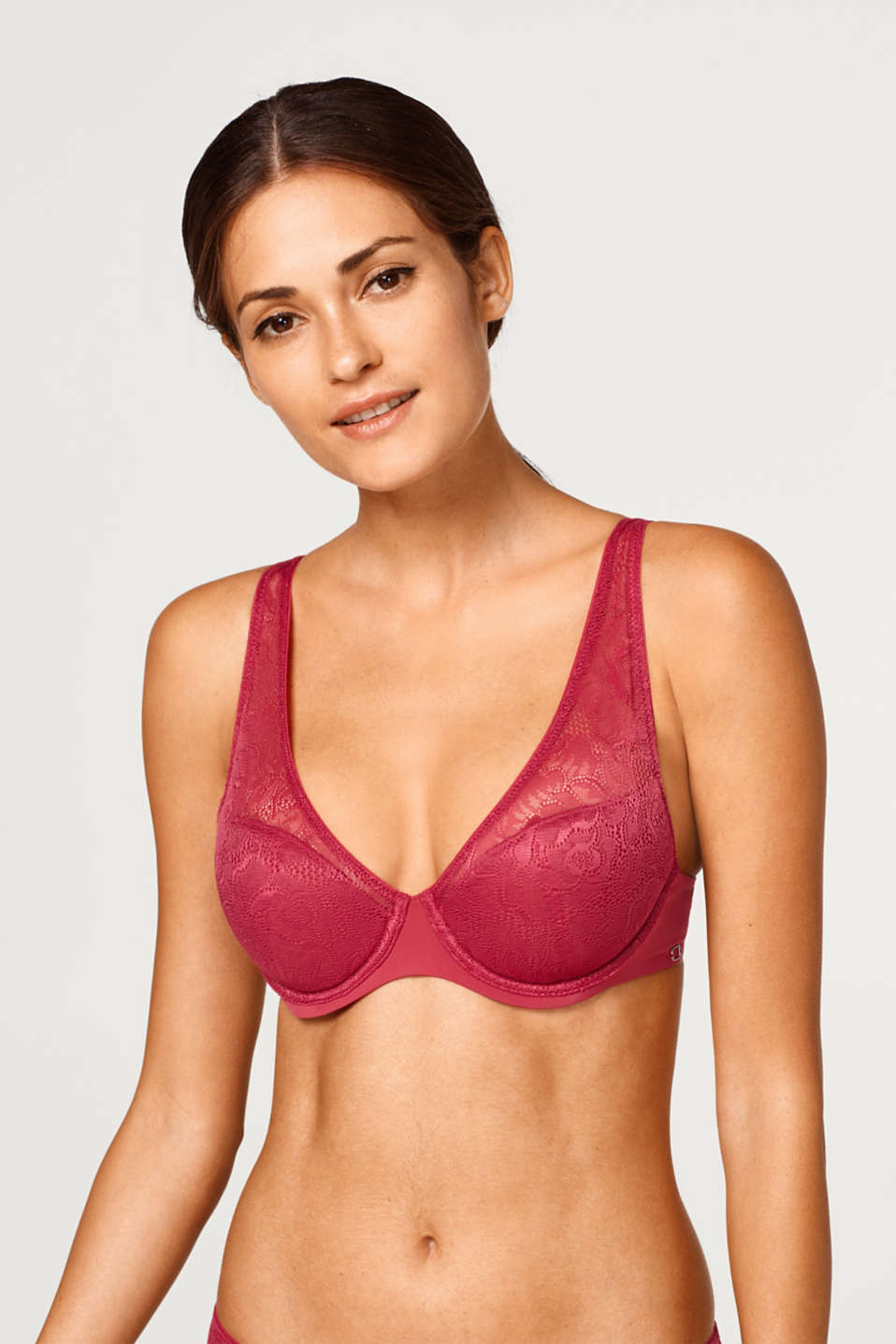 Esprit - NYE half padded underwire bra made of floral lace