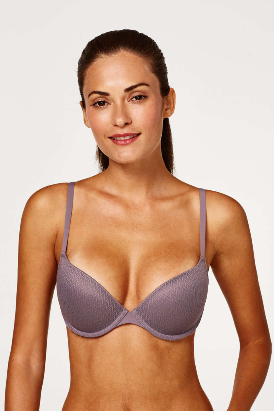 Esprit - NYE padded push-up top with a zigzag pattern
