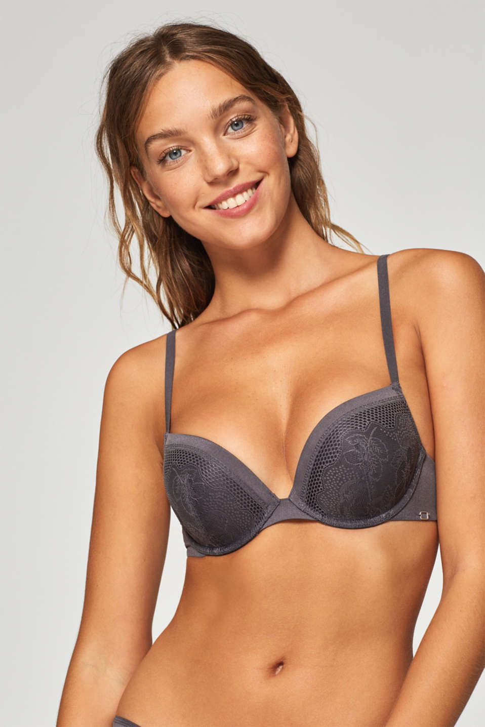 Esprit - NYE Wattierter Push-Up-BH aus Material-Mix