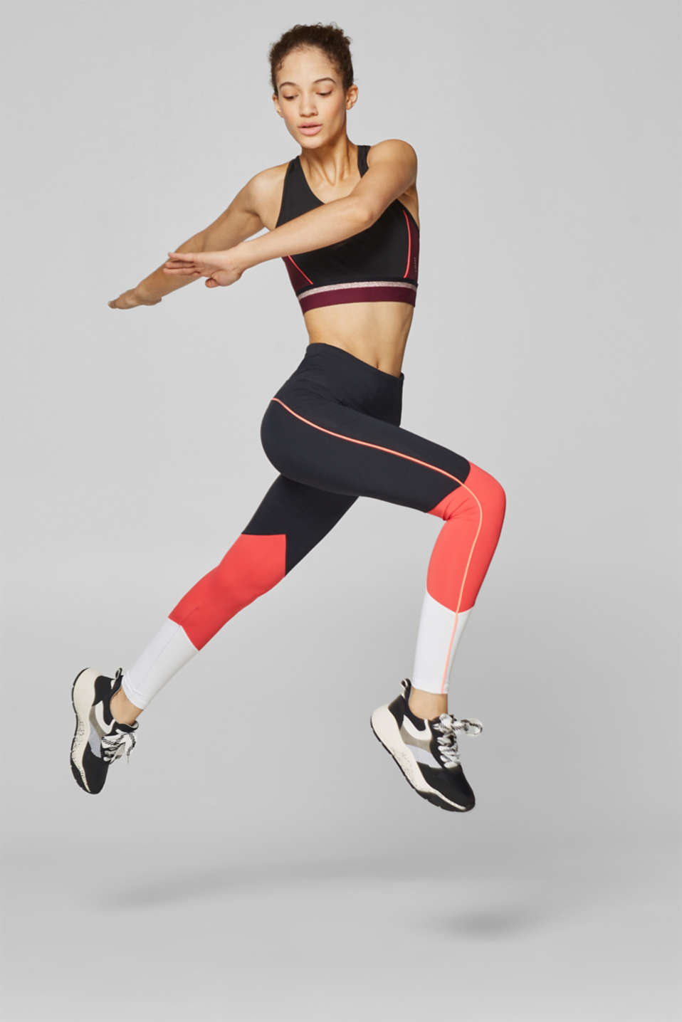Esprit - Legging de sport colour blocking, E-DRY