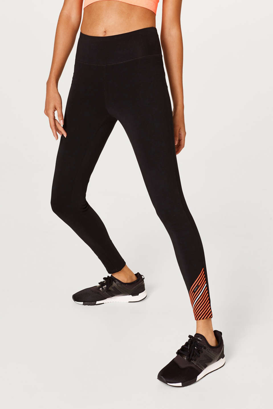 Esprit - Leggings with striped hems