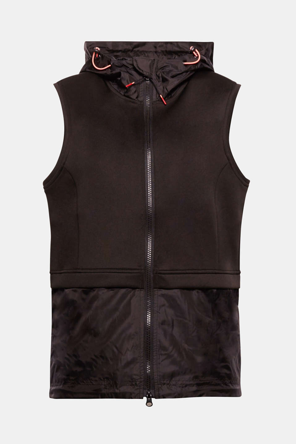 Functional, casual and versatile: This bodywarmer in a fashionable material mix is quick to put on, perfect for sport and leisure time and incredibly trendy!