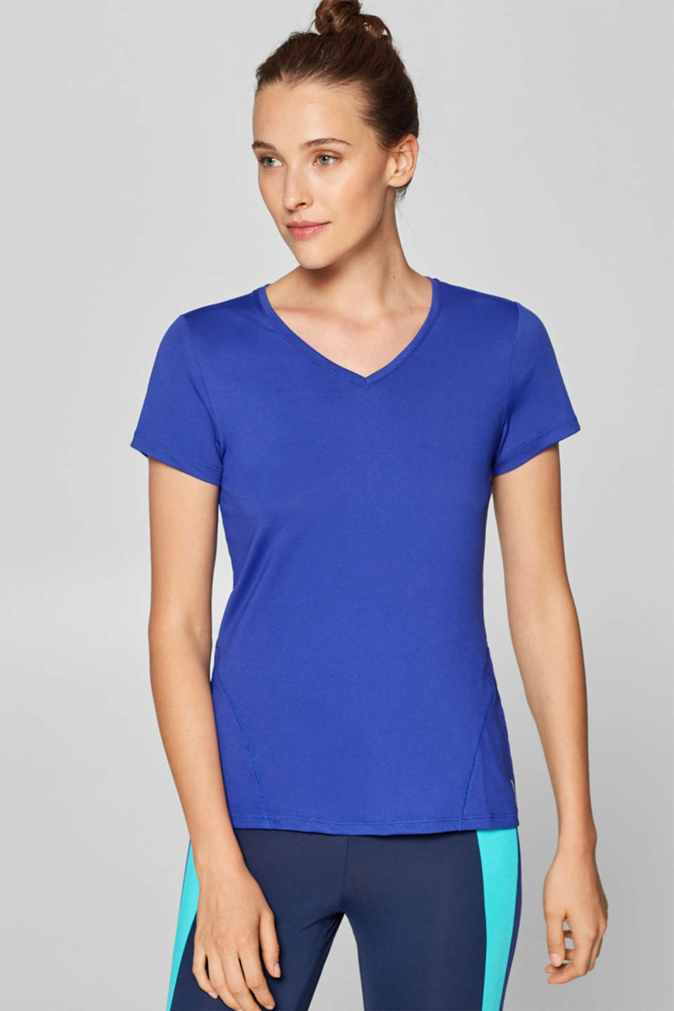Esprit - High-performance T-shirt with neon piping, E-DRY