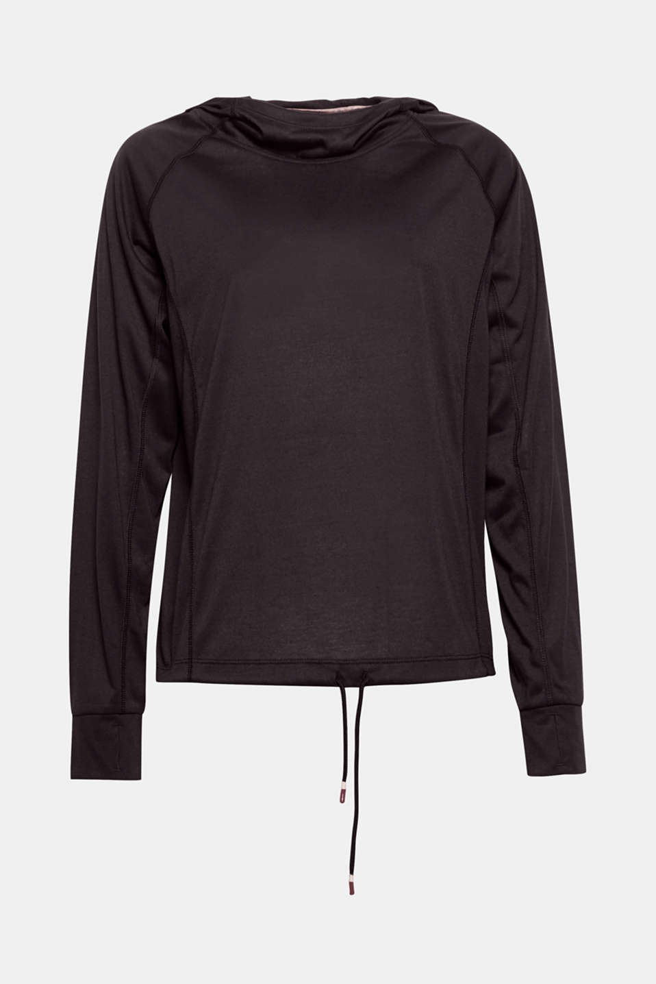 Let's go! This lightweight hoodie with an E-DRY finish and a drawstring hem is perfect for outdoor activities!