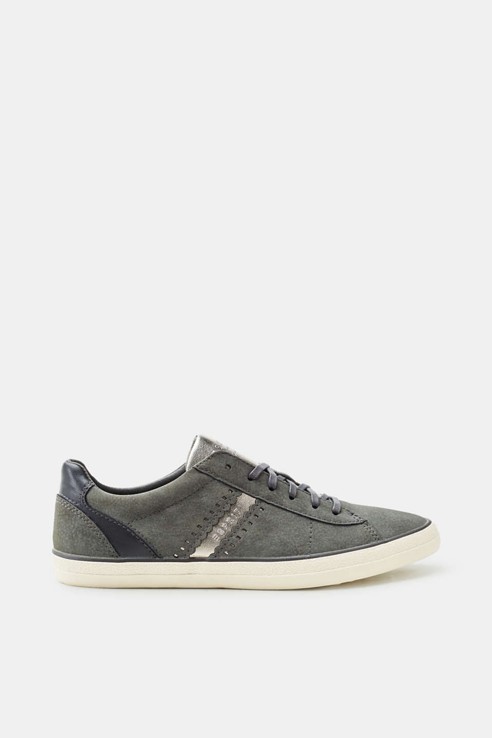Esprit - Faux nubuck lace-up trainers