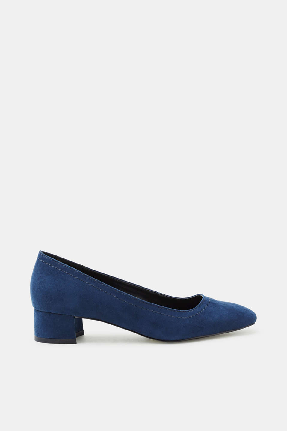 Esprit - Court shoes with a block heel, in faux suede