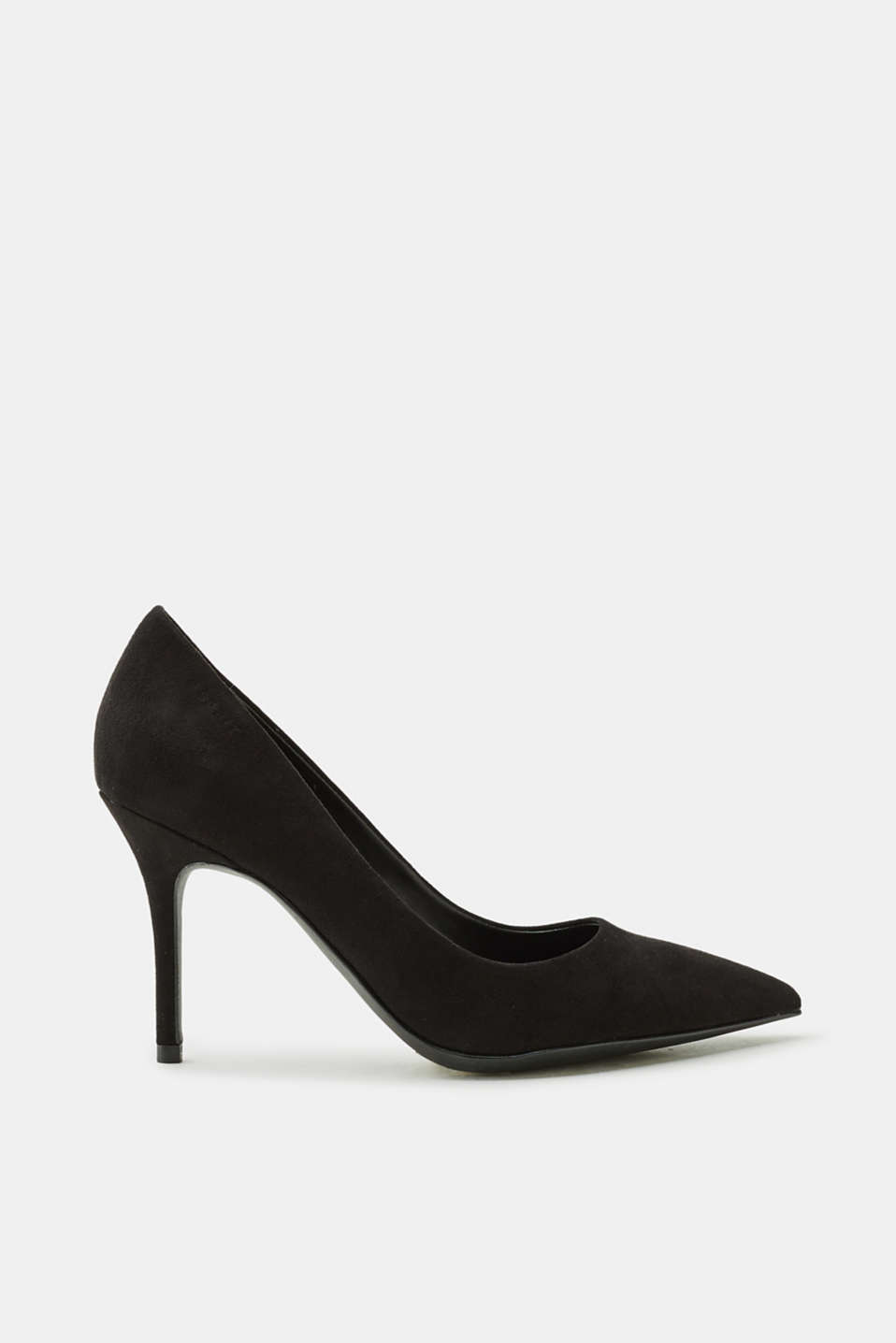 Esprit - Pointed suede court shoes with a kitten heel