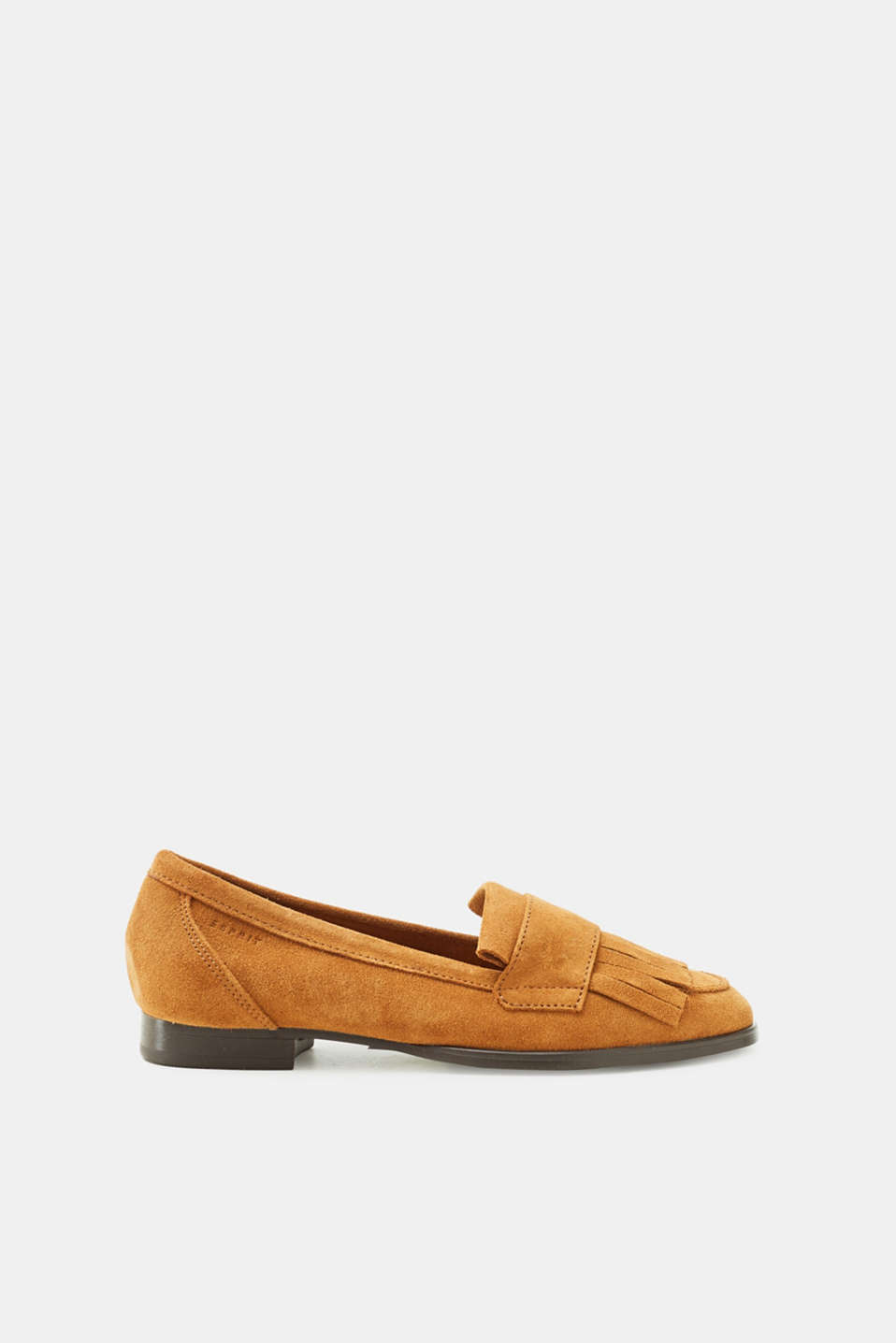 Esprit - Suede loafers with a front fringe