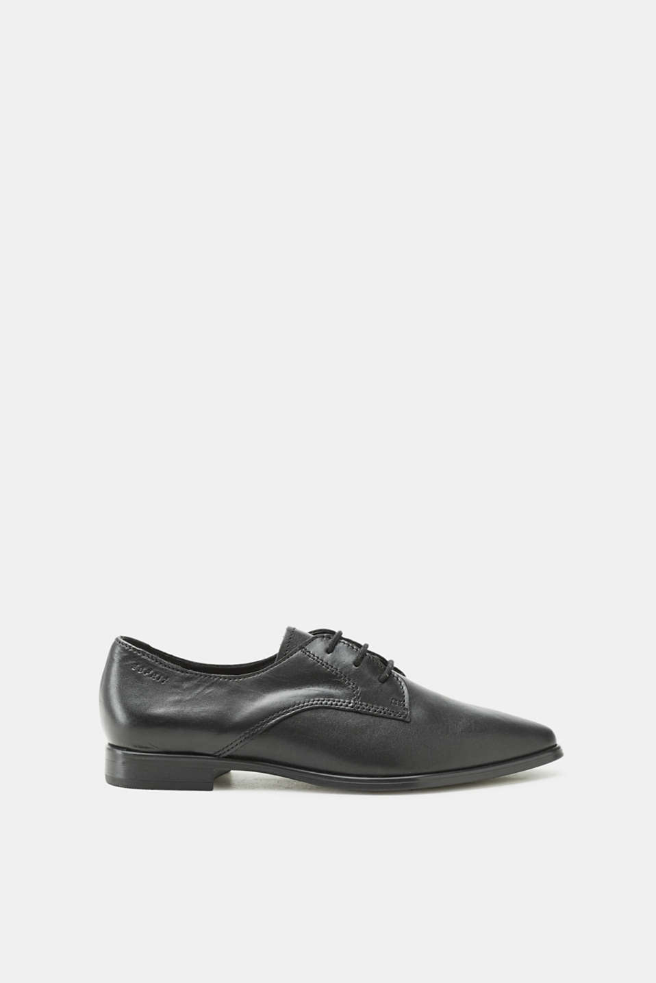 Esprit - Lace-up shoe made of calfskin
