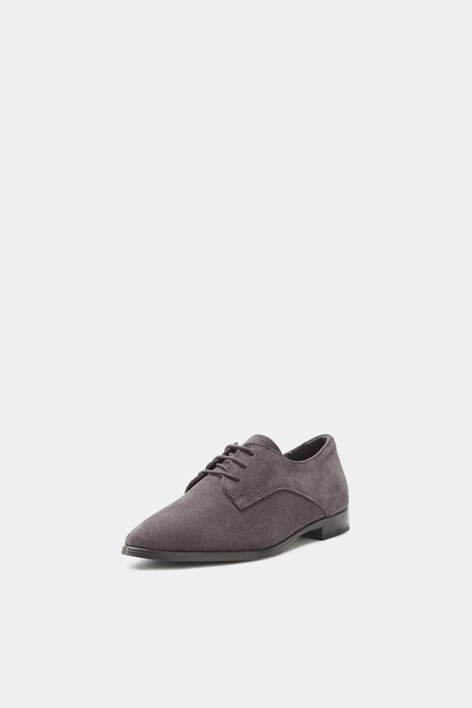 Lace-up shoe made of suede