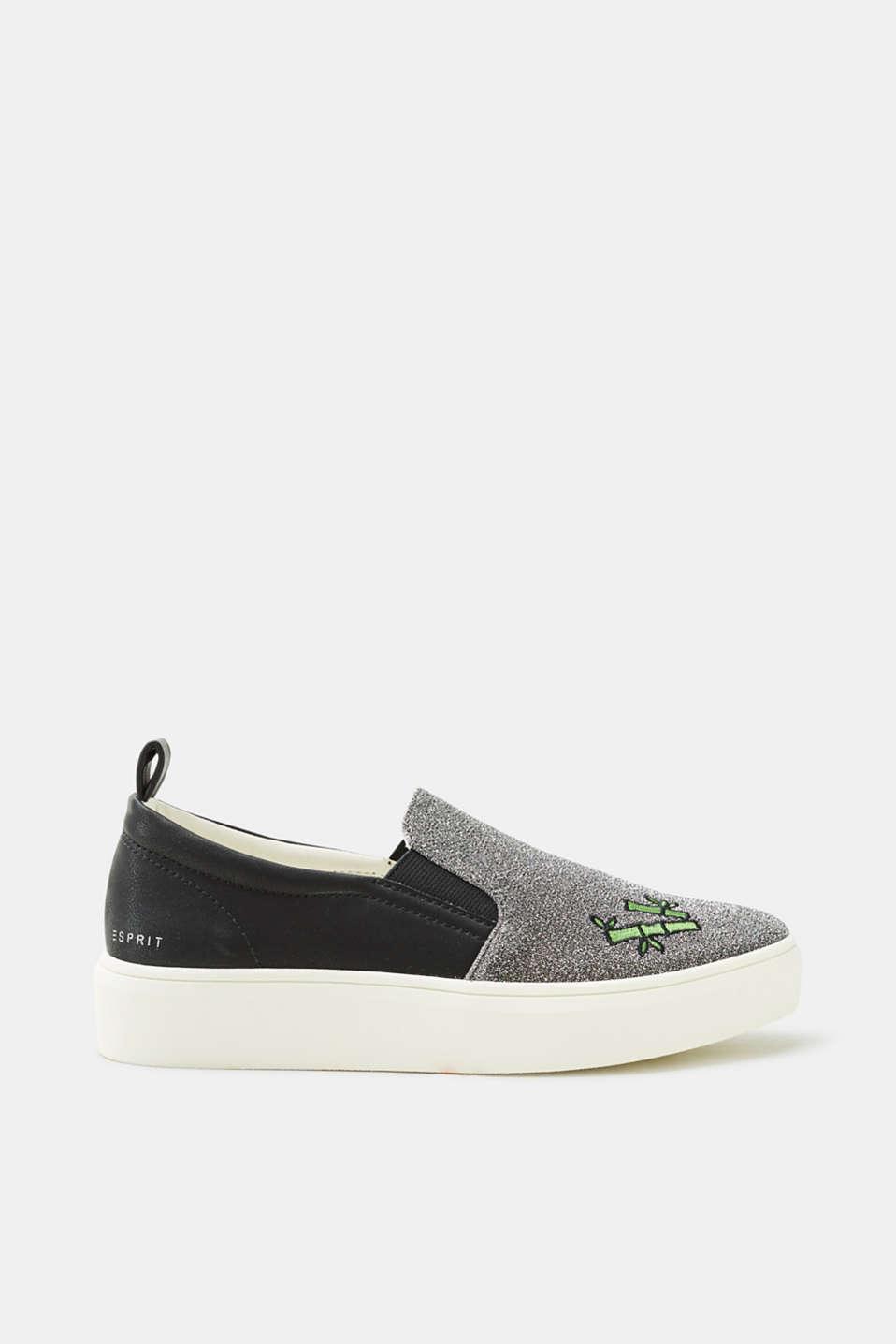 Esprit Slip On-Sneaker mit Glitter und Panda-Patch
