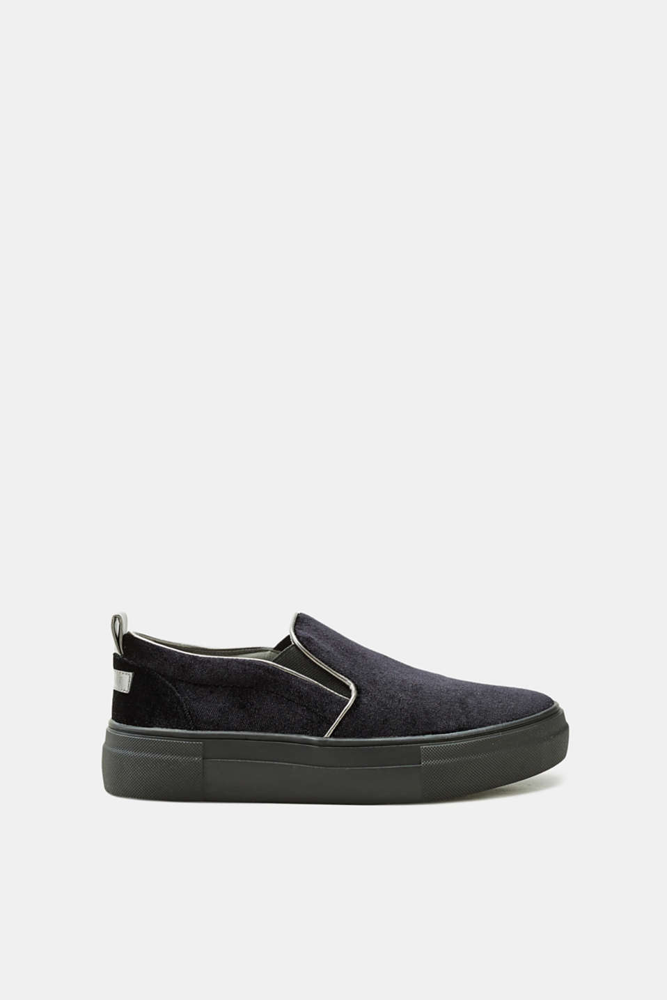 Esprit - Slip-on velvet trainers