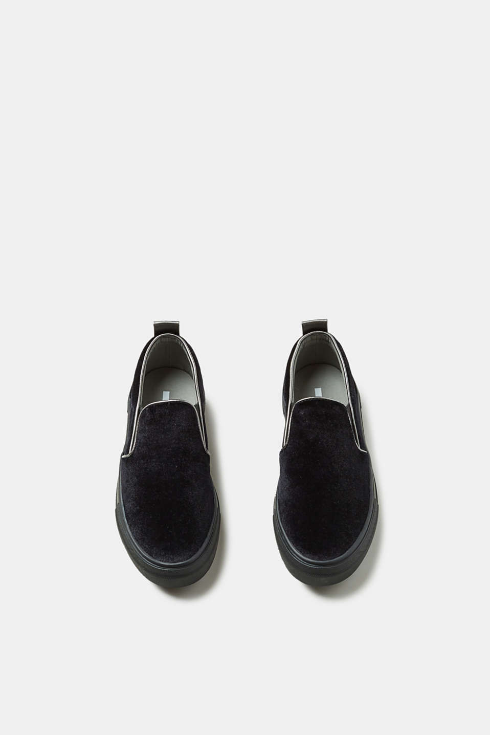 Slip-on velvet trainers