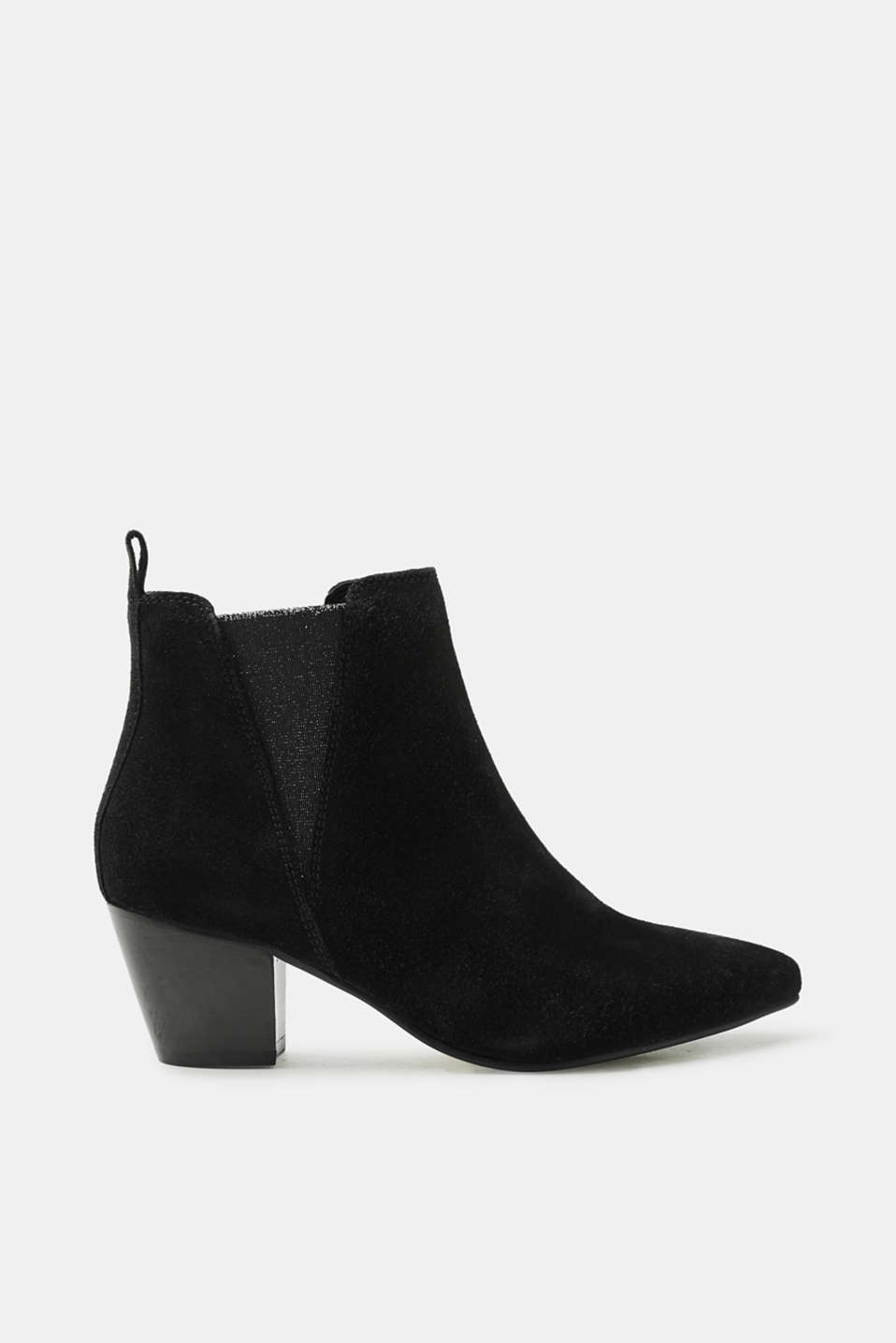 Esprit - Ankle boots with shimmery elasticated inserts