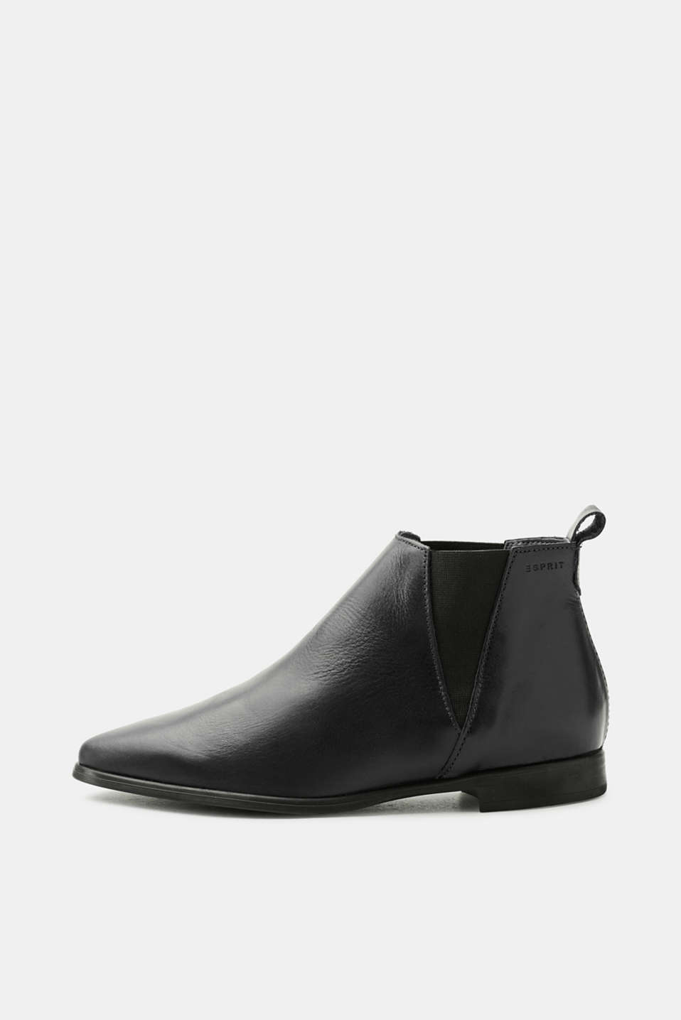 Esprit - Bottines pointues Chelsea en cuir