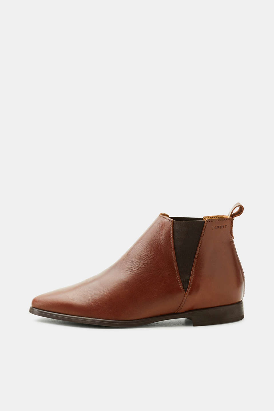 Esprit - Pointed leather Chelsea boots