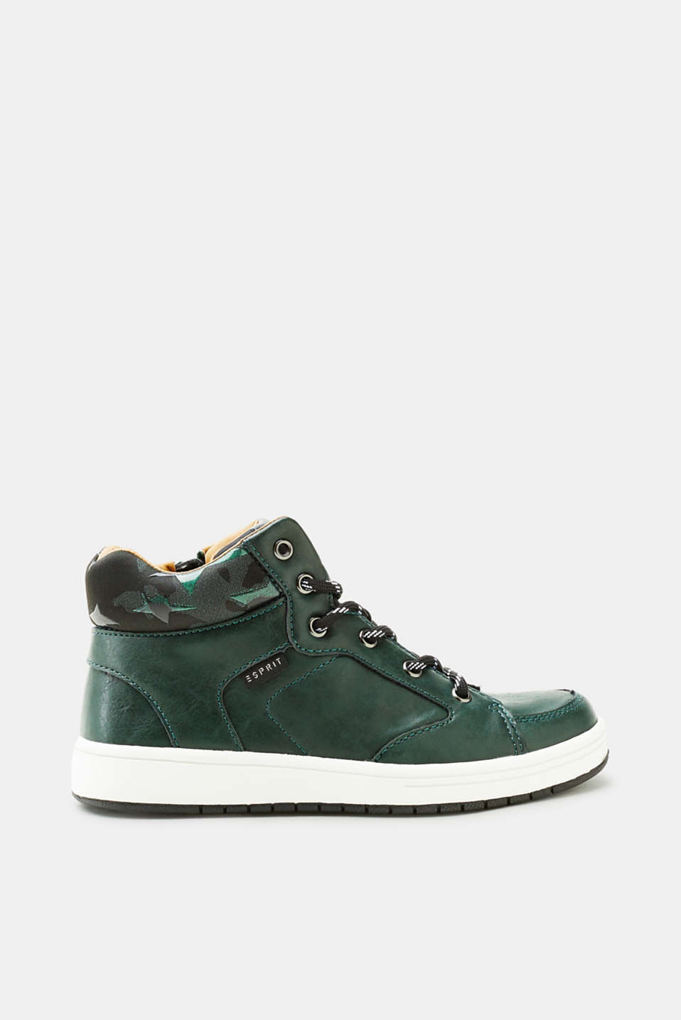 Esprit - Faux leather trainers with pattern details