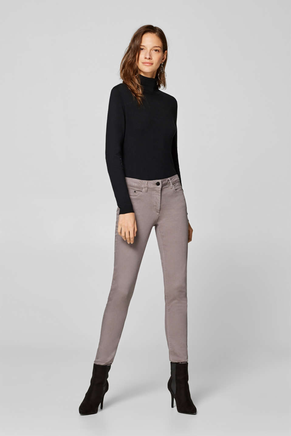Esprit - Shaping trousers with 4-way stretch