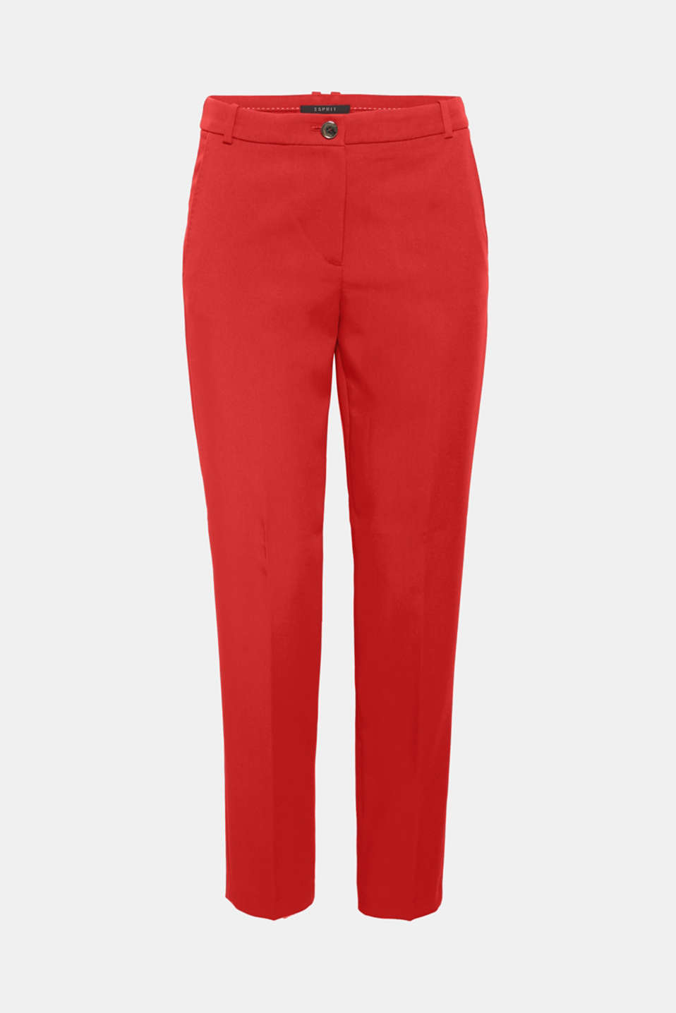 Worn with the matching blazer or on its own: the finely textured outer fabric in a trend colour and the tonal stitching on the pockets give these trousers their super fashionable note.