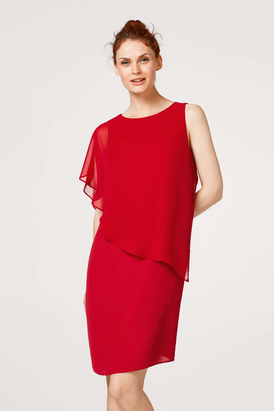 Esprit - Dress with sheer chiffon layering