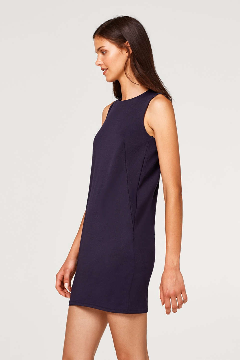 Esprit - Stretch jersey dress with lace on the back