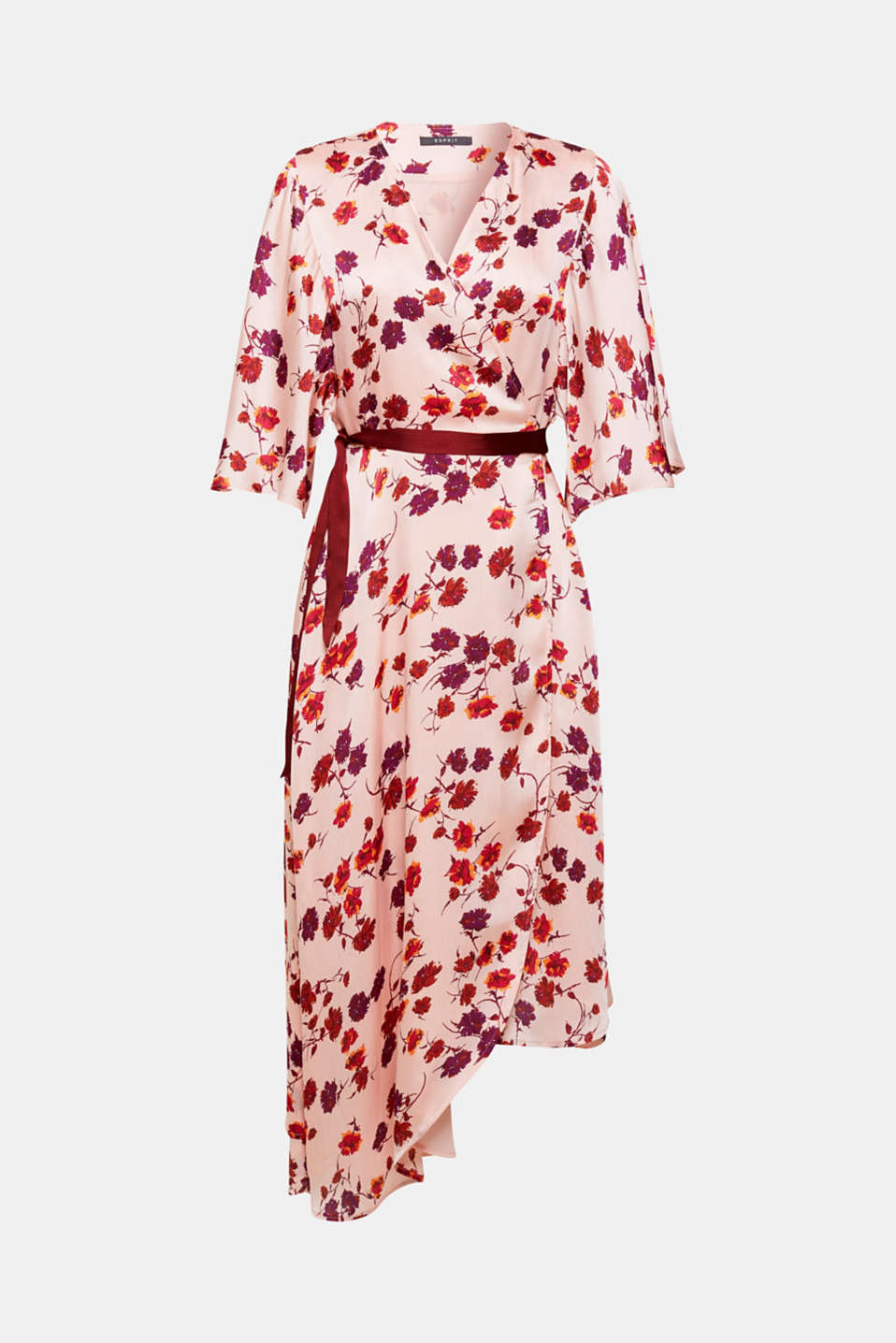 You will love this dress in an adjustable wrap-over look: The flowing design with a dreamy floral print, pretty cap sleeves and an asymmetric hem looks particularly feminine and elegant!
