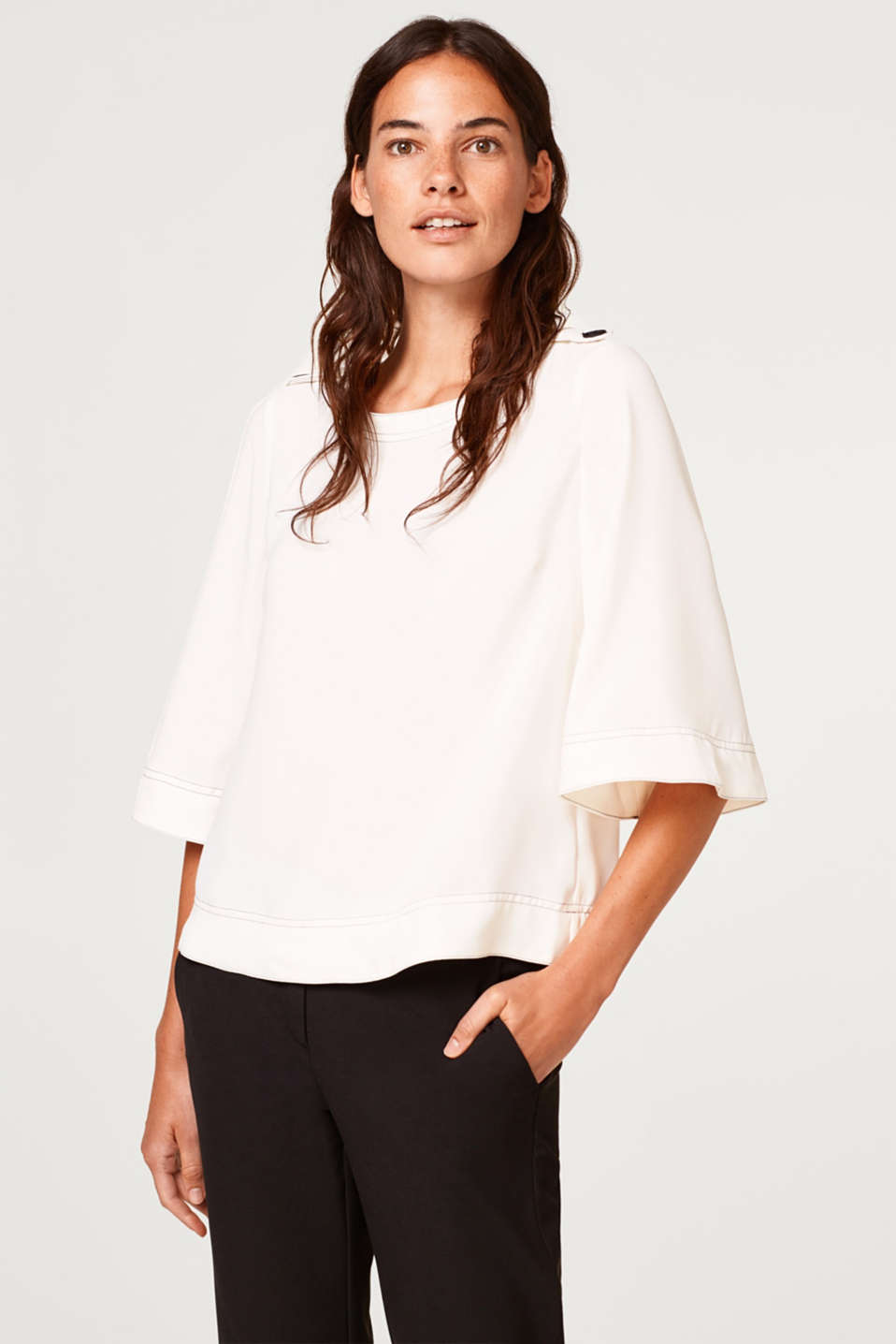 Esprit - Clean blouse with kimono sleeves