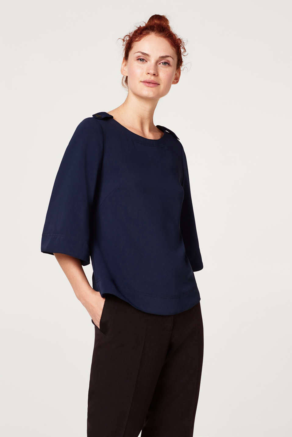 Esprit - Blouse with flared sleeves