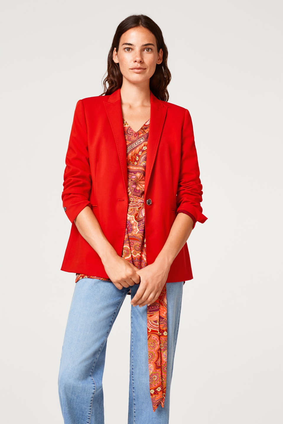 Tunic blouse with a paisley print