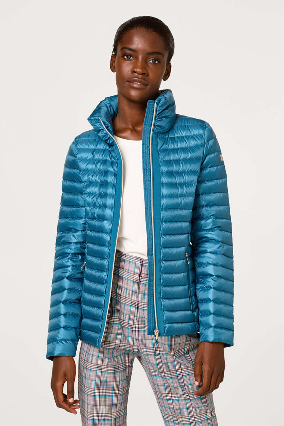Esprit - Extremely lightweight down jacket with a stand-up collar
