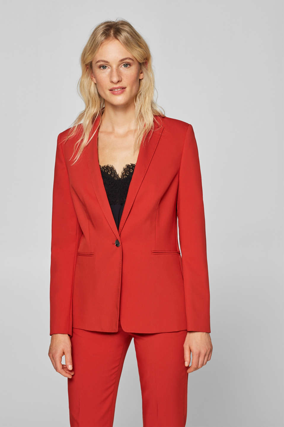 Esprit - Mix + match blazer met twillstructuur