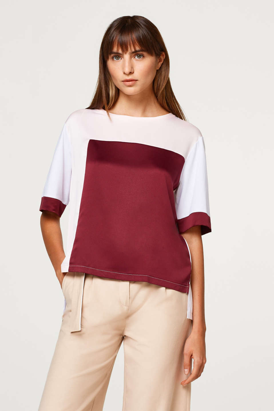 Esprit - T-shirt med colorblock-elementer