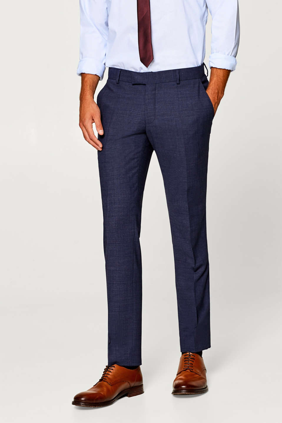 Esprit - ACTIVE SUIT mix + match: Trousers with waist pleats