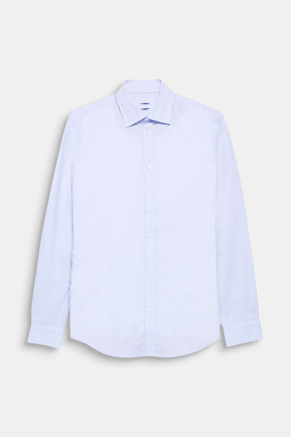 High level of comfort thanks to the mechanical stretch: Business shirt with fine vertical stripes, in pure cotton
