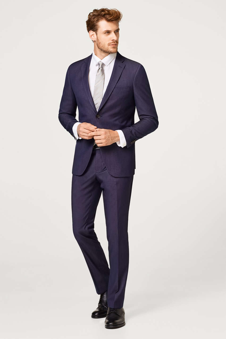 DARK BLUE MELANGE mix + match: Tailored jacket with lapel