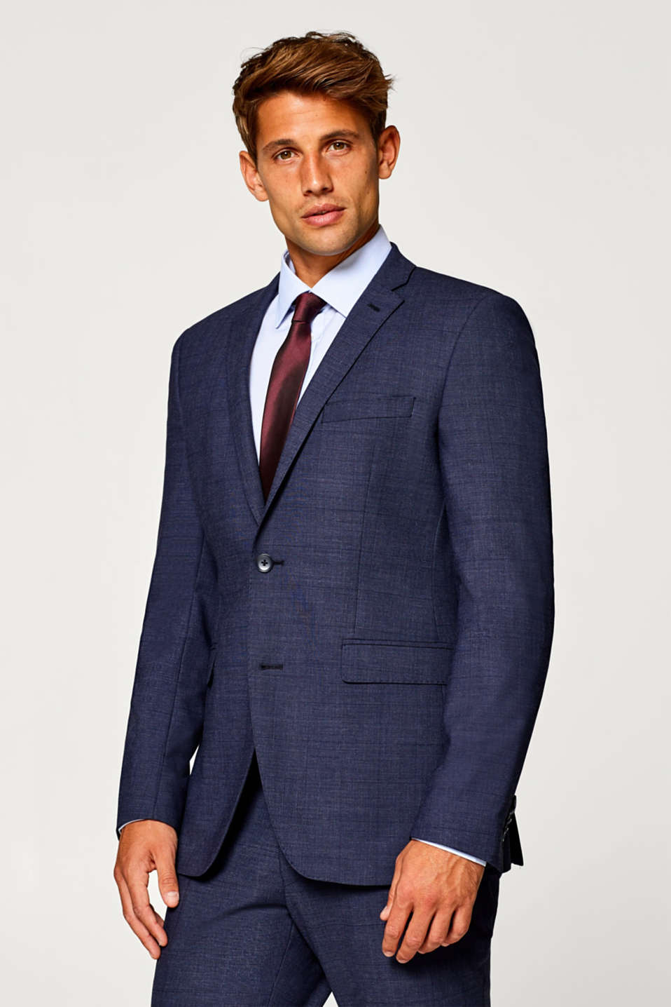 Esprit - ACTIVE SUIT mix + match colbert met scheerwol
