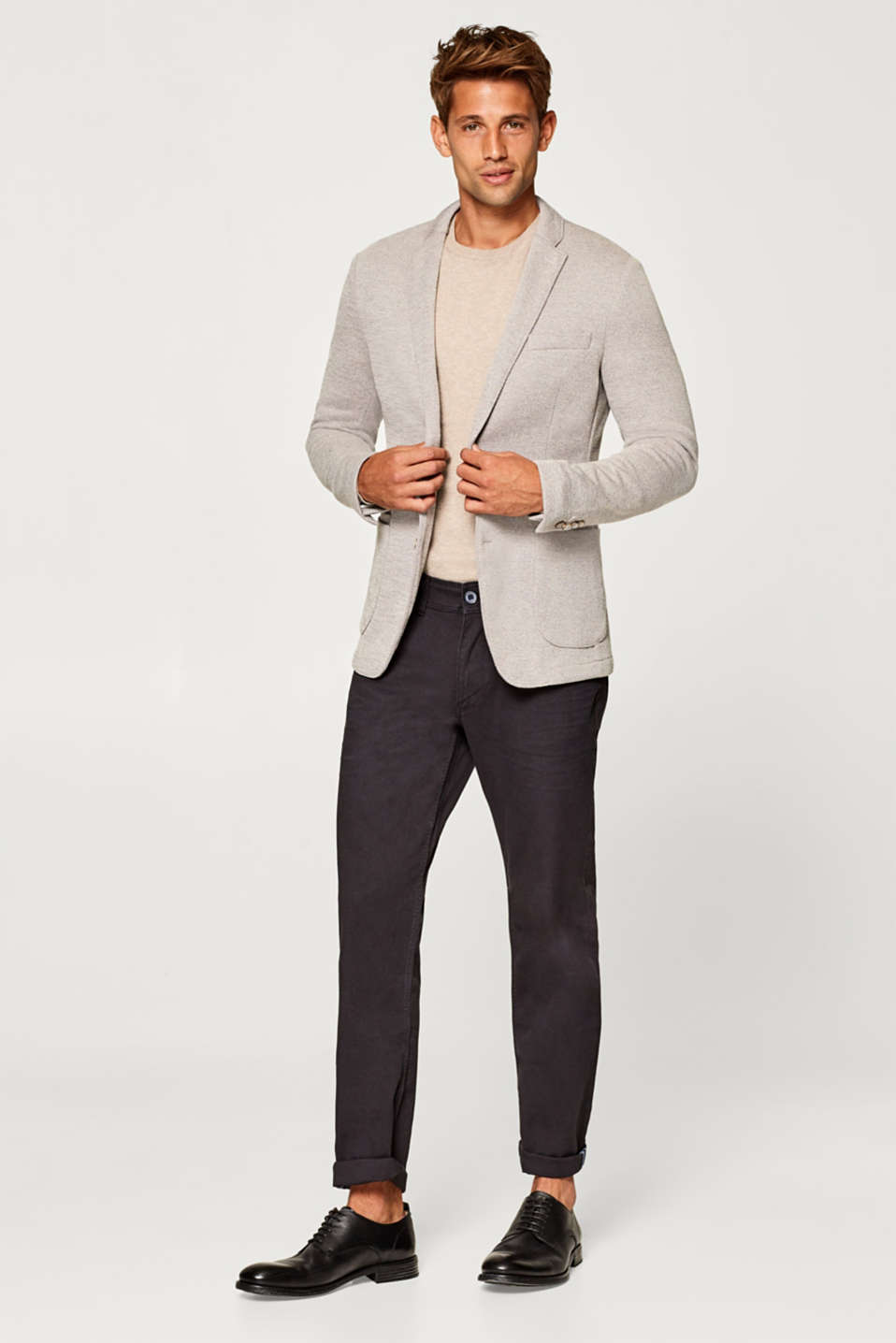Men's blazer in textured jersey