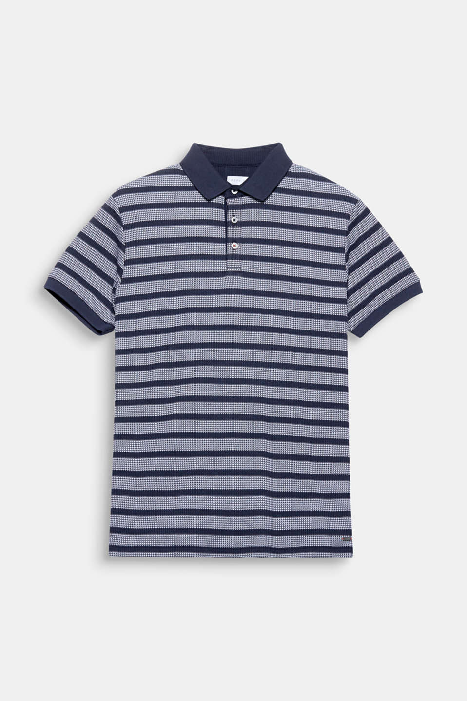 We love texture! The three-dimensional piqué texture gives this polo shirt a high-quality look.