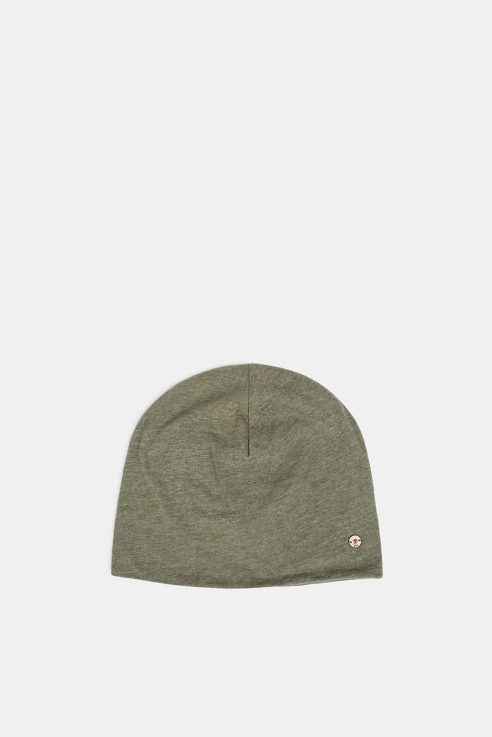 edc - Melange jersey beanie containing organic cotton