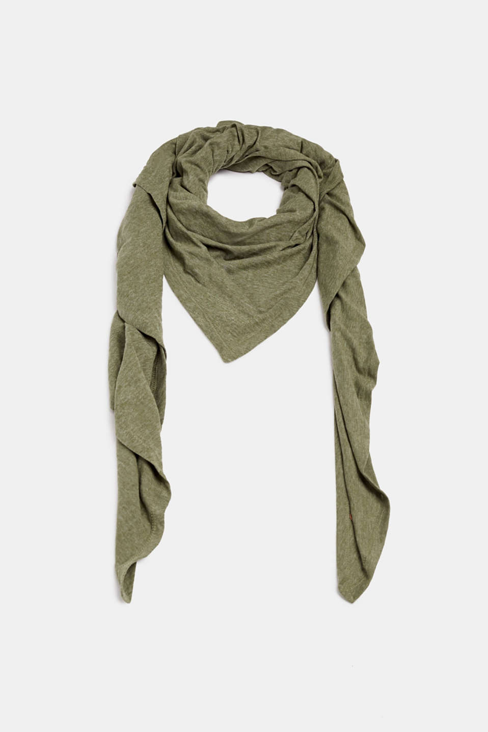 edc - Triangular scarf made of jersey with organic cotton