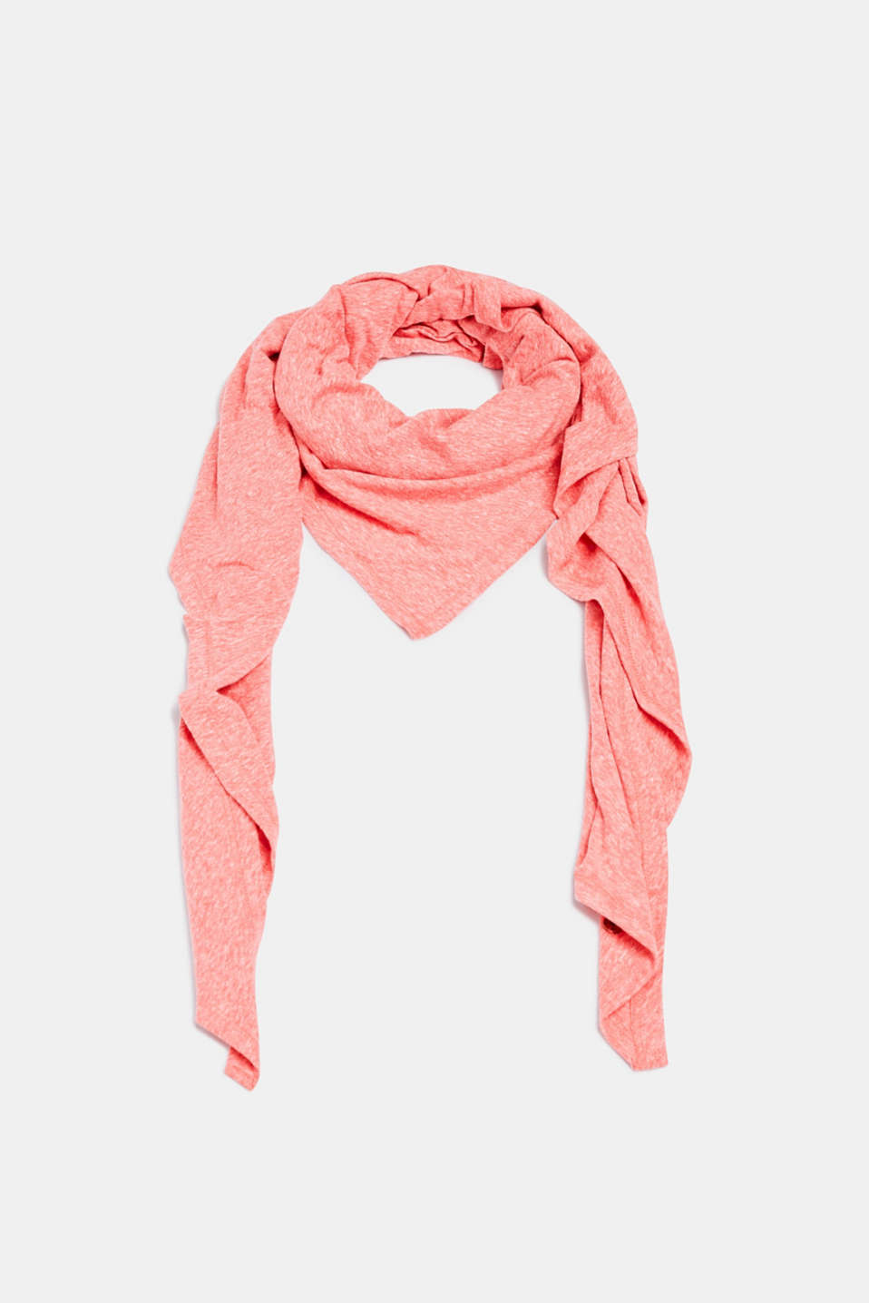 Triangular scarf made of jersey with organic cotton, DARK RED, detail image number 0