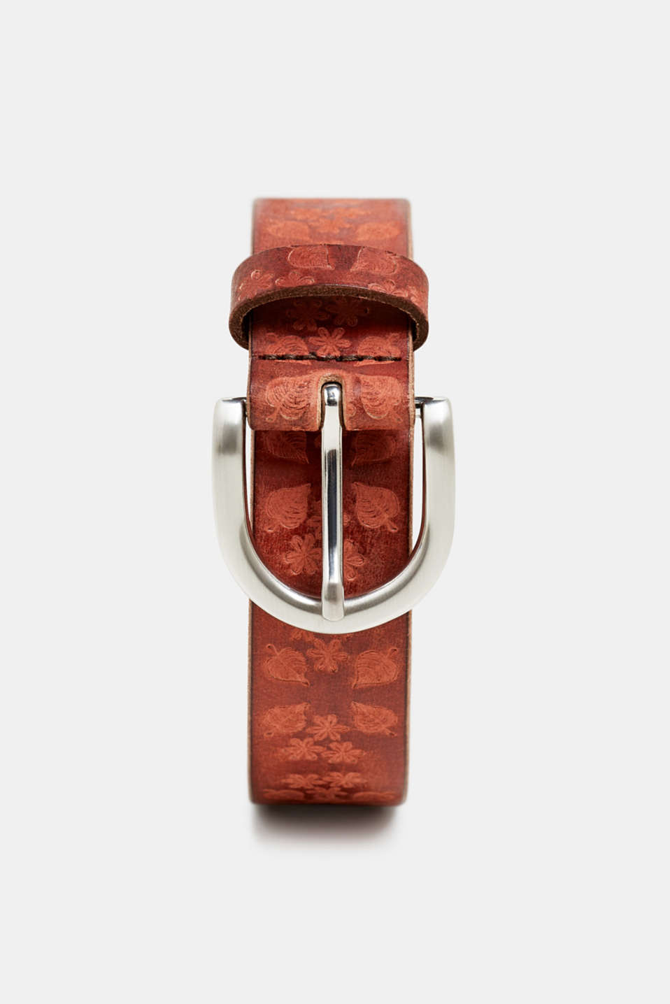 edc - Buffalo leather belt with an embossed pattern