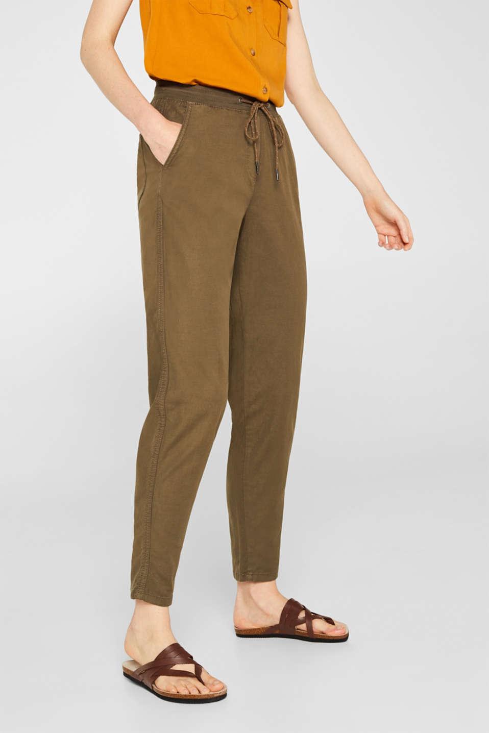 Pants woven, DARK KHAKI, detail image number 6