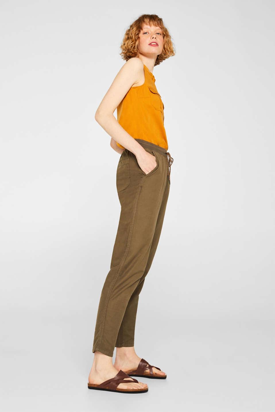 Pants woven, DARK KHAKI, detail image number 1