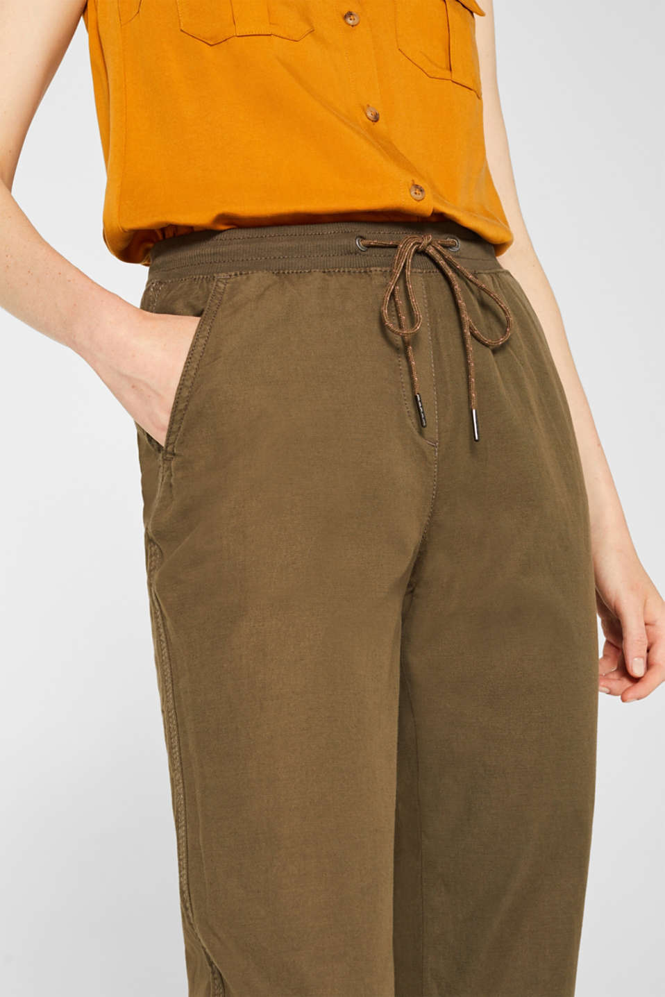 Pants woven, DARK KHAKI, detail image number 2