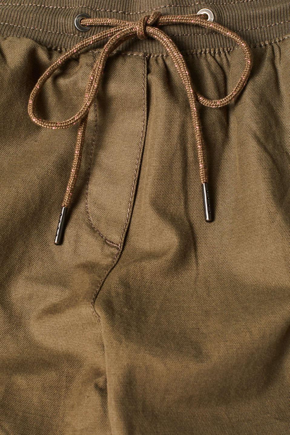 Pants woven, DARK KHAKI, detail image number 4