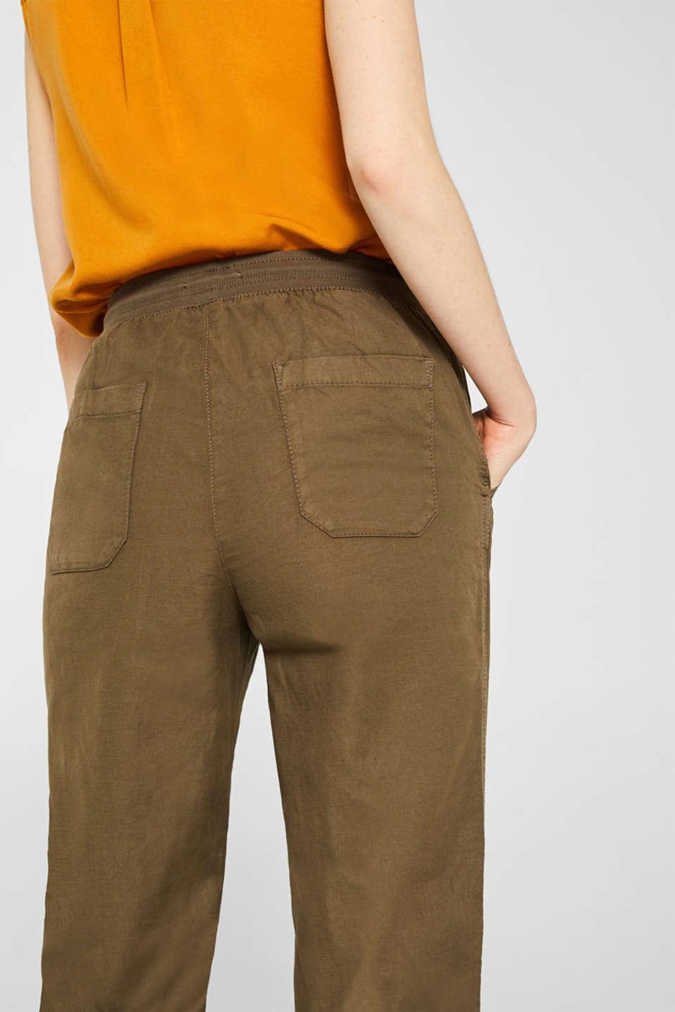 Pants woven, DARK KHAKI, detail image number 5