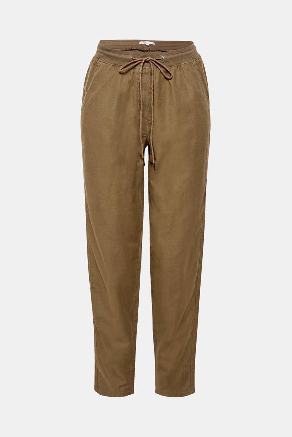 Pants woven, DARK KHAKI, detail image number 7