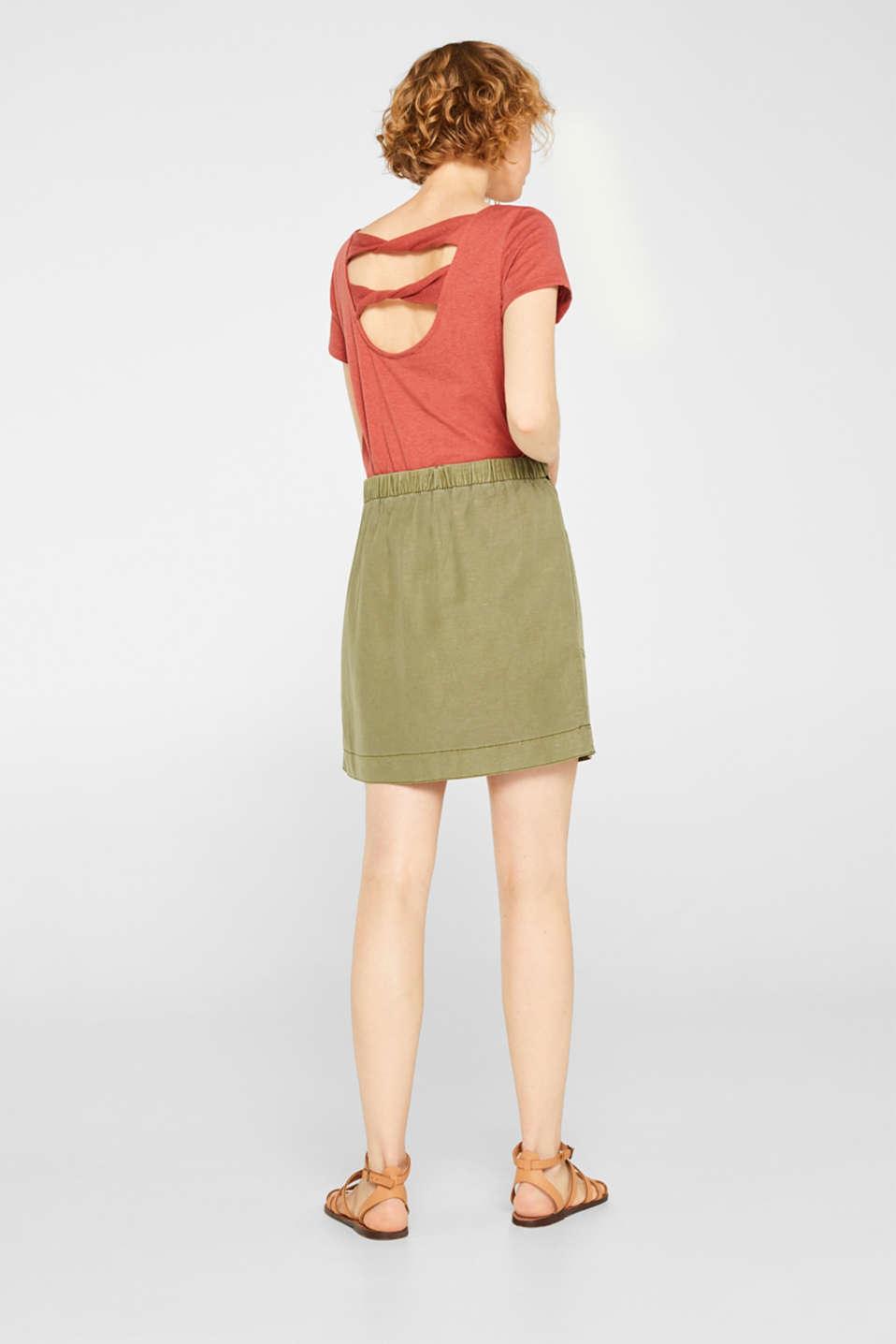 Skirts light woven, KHAKI GREEN, detail image number 3
