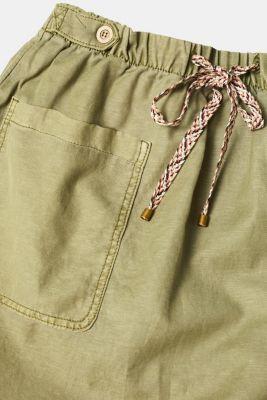 Linen blend: Utility-style stretch skirt